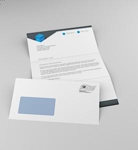 Serienbrief 1 Blatt Anschreiben 1 Kuvert
