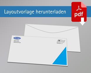 Briefumschlag DIN Lang mit Rand ohne Fenster einseitig bedruckt