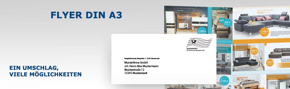Flyer-Mailing Flyer DIN A3