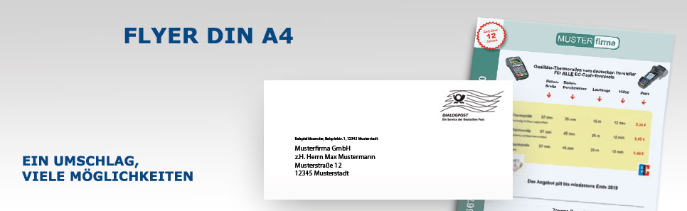 Flyer-Mailing Flyer DIN A4