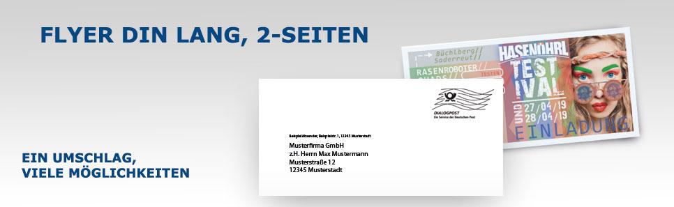Flyer-Mailing Flyer DIN lang 2Seiten