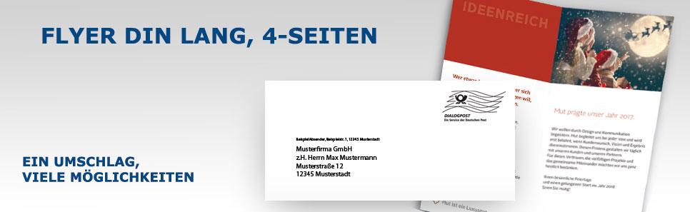 Flyer-Mailing Flyer DIN lang 4Seiten