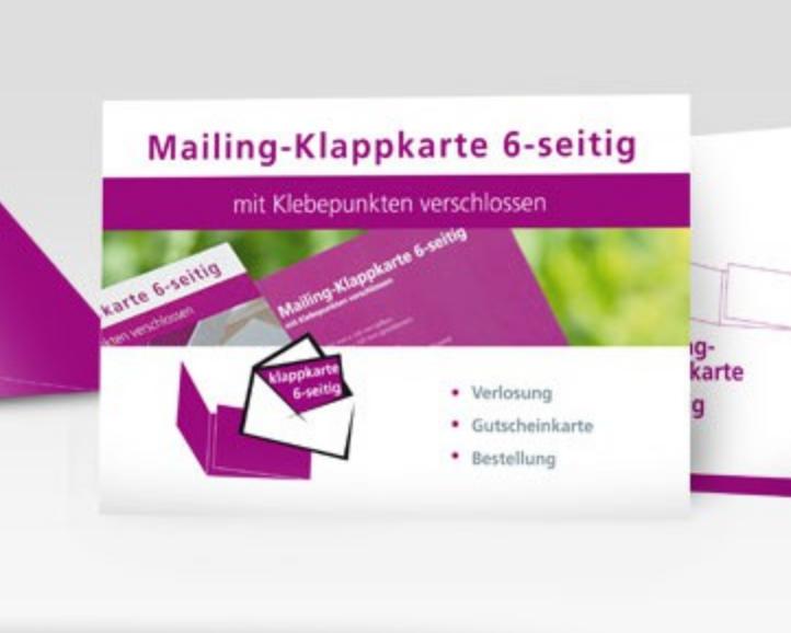 Mailing-Klappkarte im Wickelfalz