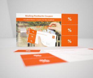 Mailing Postkarte Coupon – Abbildung 1