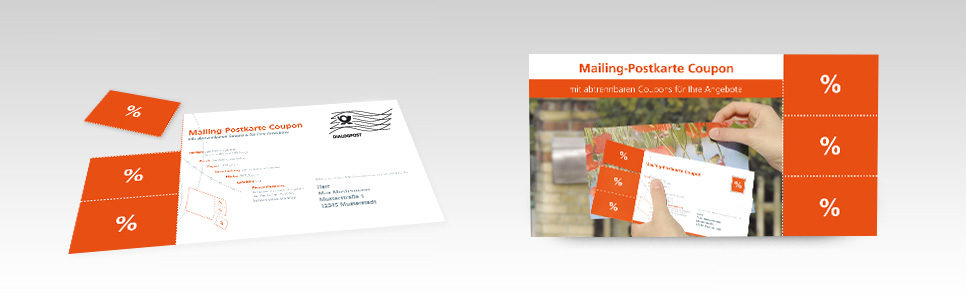 Mailing-Postkarte-Coupon
