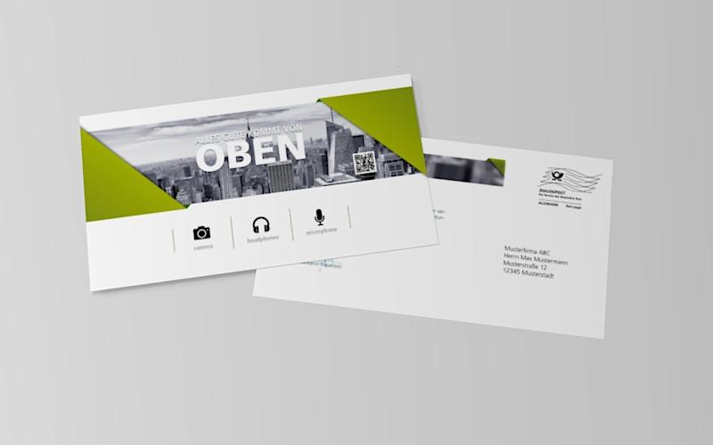 Post Porto Postkarte Din Lang Briefumschlag Beschriften Absender