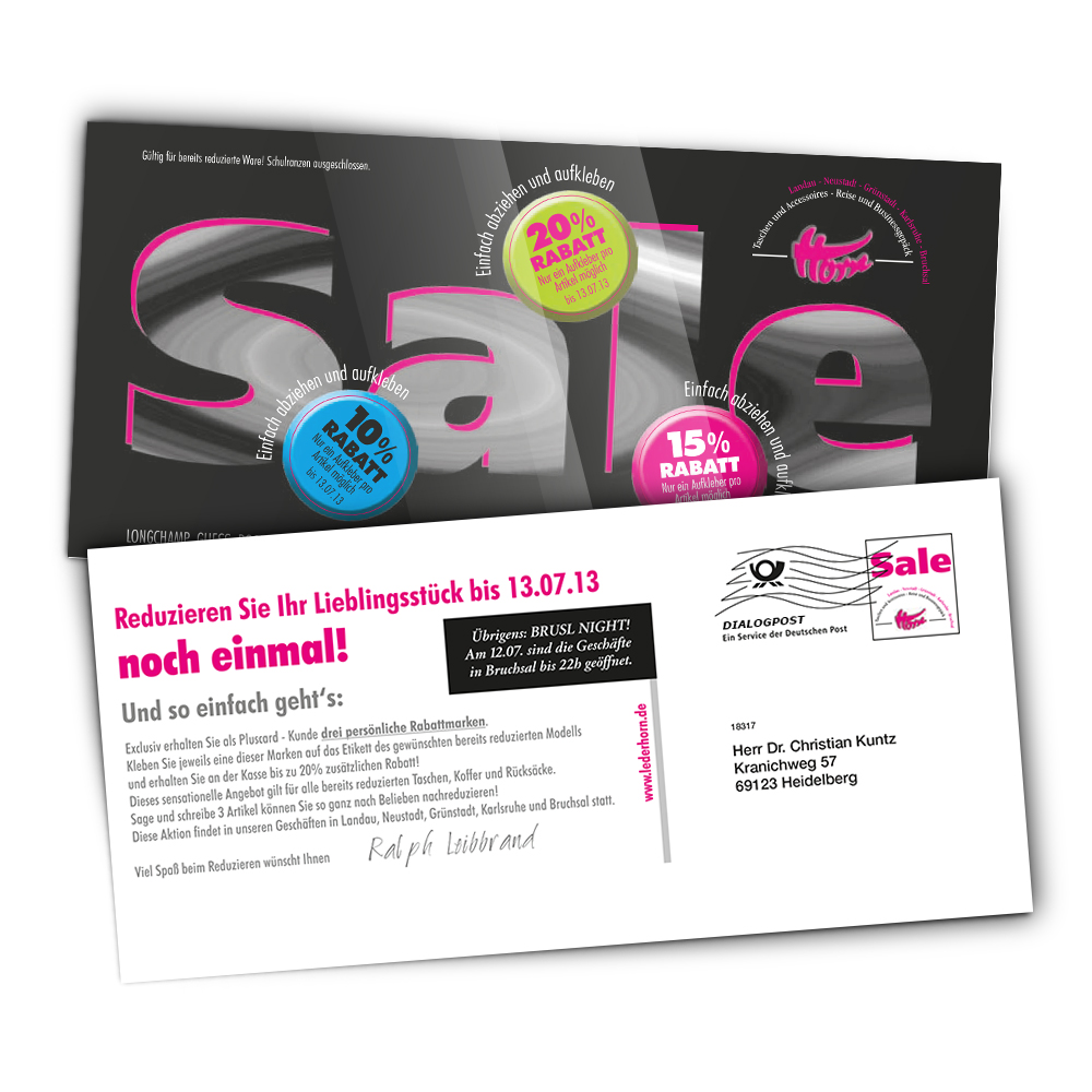 Mailing Postkarte Mit Aufkleber Wwwselfmailercom