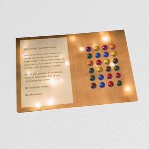 Schoko-Adventskalender-Grußkarte Bild 2