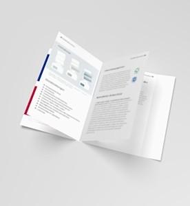 Selfmailer Broschüre