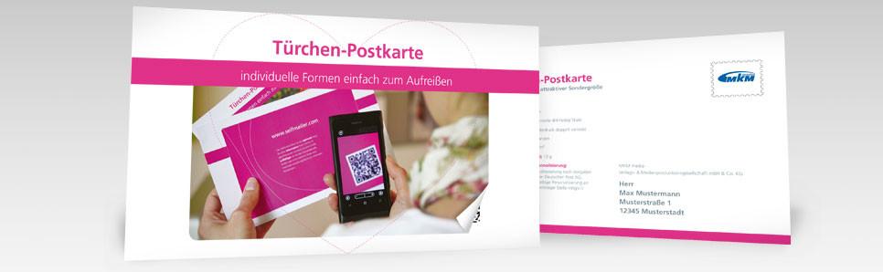 Tuerchen-Postkarte