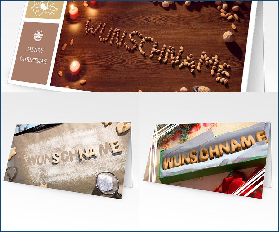 Bildpersonalisierte Weihnachtskarte