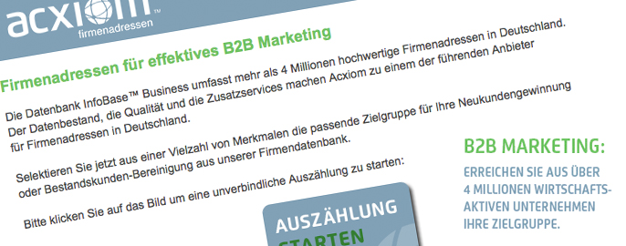 Firmenadressen für ein effektives B2B-Marketing