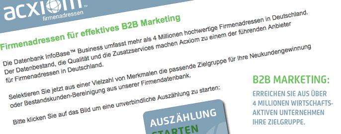 Firmenadressen für ein effektives B2B-Marketing