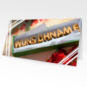 Weihnachtskarte mit bildpersonalisiertem Motiv 2