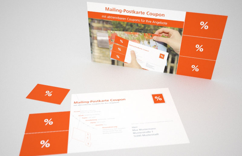 Mailing-Postkarte Coupon