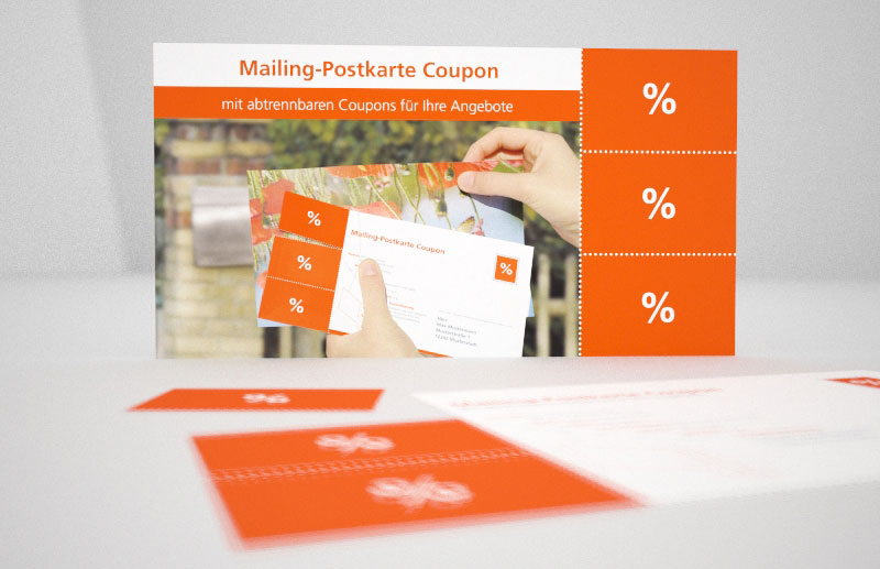 Mailing-Postkarte Coupon
