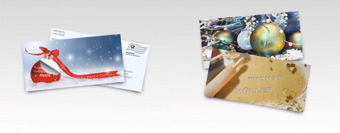 Mailings zu Weihnachten und für die Adventszeit