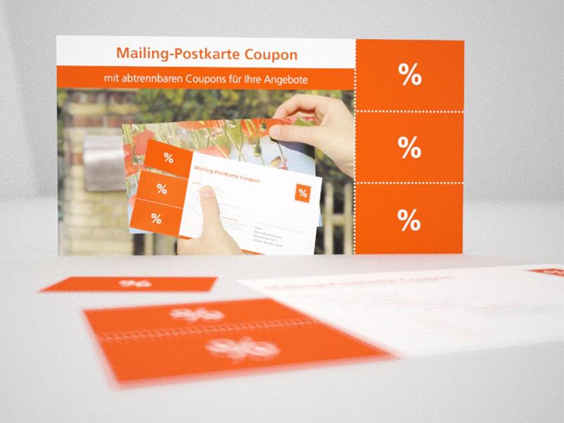 Beispiel: Mailing-Postkarte Coupon