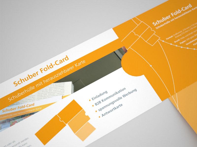 Beispiel: Schuberhüller mit herausziehbarer Karte