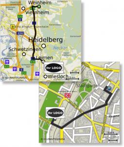 personalisierte Landkarten mit Logo