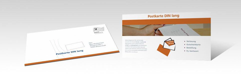 Mailing-Postkarte DIN lang