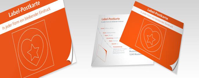 Label-Postkarte