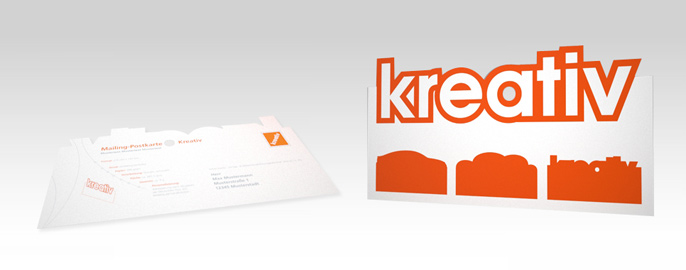 Ein Mailing mit Kontur – die Mailing-Postkarte Kreativ
