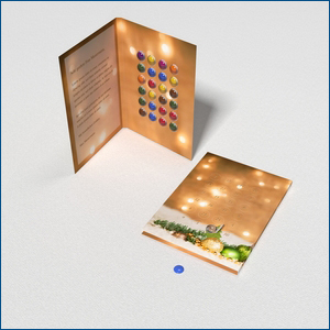 Schoko-Adventskalender-Grußkarte Bild 1