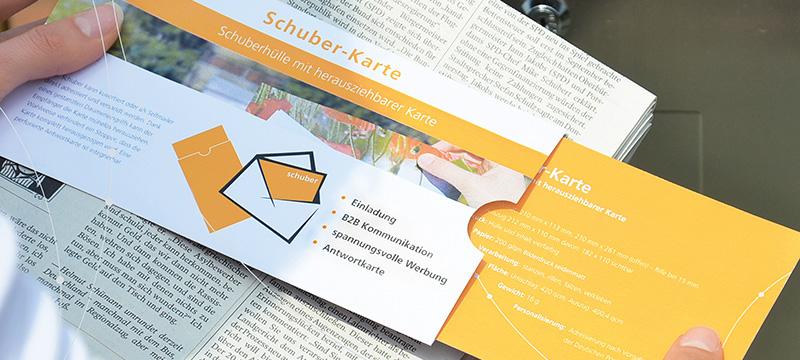 Direct-Mailing mit Schuber-Karte