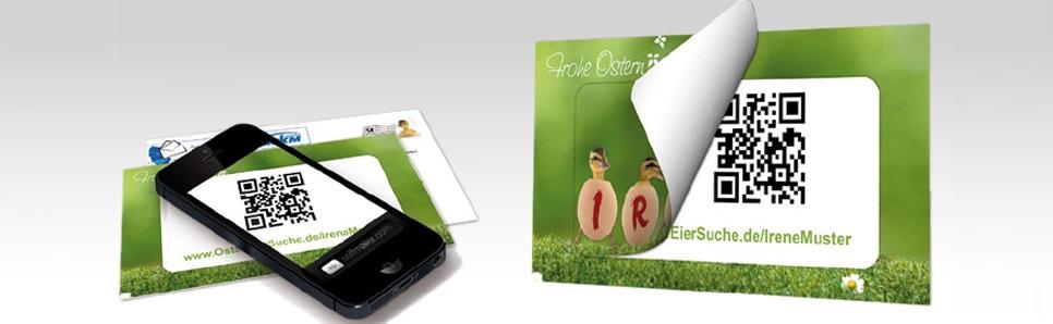 Türchen-Postkarte mit QR-Code