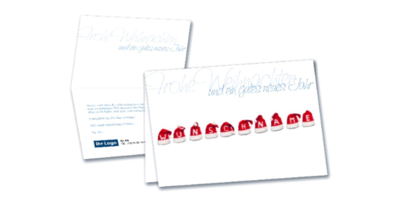 Personalisierbare Weihnachtsklappkarte